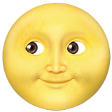 Full Moon With Face ios emoji