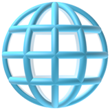 Globe With Meridians ios emoji