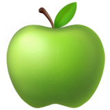 Green Apple ios/apple emoji