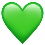Green Heart ios/apple emoji