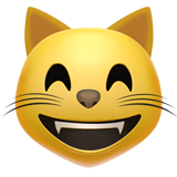 Grinning Cat Face With Smiling Eyes ios emoji