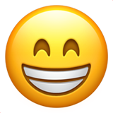 Grinning Face With Smiling Eyes ios emoji