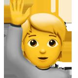 Happy Person Raising One Hand ios/apple emoji