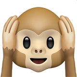 Hear-no-evil Monkey ios emoji