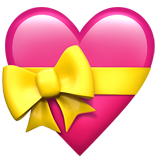Heart With Ribbon ios emoji