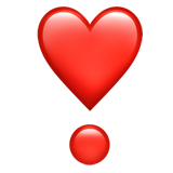 Heavy Heart Exclamation Mark Ornament ios emoji