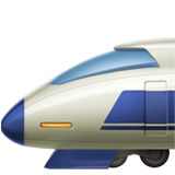 High-speed Train With Bullet Nose ios emoji