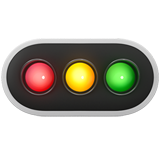 Horizontal Traffic Light ios emoji