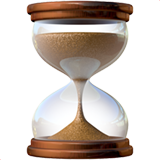 Hourglass With Flowing Sand ios emoji