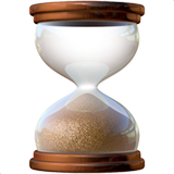 Hourglass ios/apple emoji