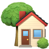 House With Garden ios emoji