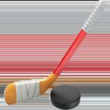 Ice Hockey Stick And Puck ios emoji
