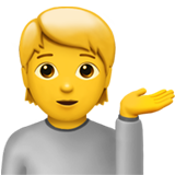 Information Desk Person ios/apple emoji