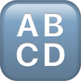 Input Symbol For Latin Capital Letters ios emoji