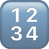 Input Symbol For Numbers ios emoji
