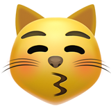 Kissing Cat Face With Closed Eyes ios emoji