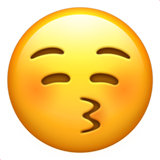 Kissing Face With Closed Eyes ios emoji