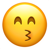 Kissing Face With Smiling Eyes ios emoji