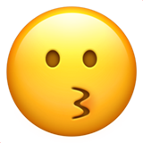 Kissing Face ios emoji