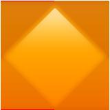 Large Orange Diamond ios/apple emoji