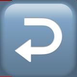 Leftwards Arrow With Hook ios/apple emoji