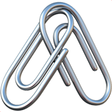 Linked Paperclips ios emoji