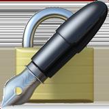 Lock With Ink Pen ios emoji