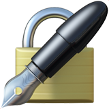 Lock With Ink Pen ios/apple emoji