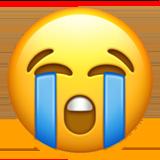 Loudly Crying Face ios emoji