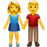 Man And Woman Holding Hands ios emoji