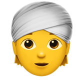Man With Turban ios emoji