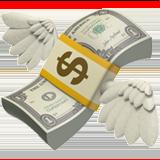 Money With Wings ios emoji