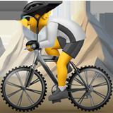 Mountain Bicyclist ios emoji