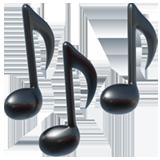 Multiple Musical Notes ios emoji