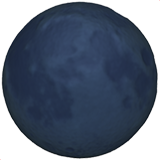 New Moon Symbol ios emoji