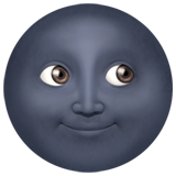New Moon With Face ios emoji