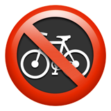 No Bicycles ios emoji