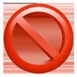 No Entry Sign ios emoji