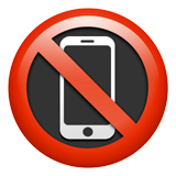 No Mobile Phones ios/apple emoji