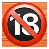 No One Under Eighteen Symbol ios emoji