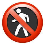 No Pedestrians ios/apple emoji