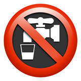 Non-potable Water Symbol ios emoji