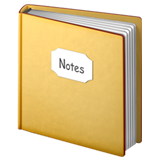 Notebook With Decorative Cover ios/apple emoji