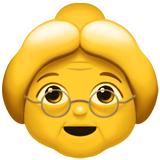 Older Woman ios/apple emoji