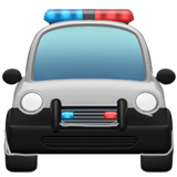 Oncoming Police Car ios emoji