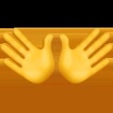 Open Hands Sign ios emoji