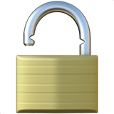 Open Lock ios emoji