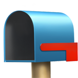 Open Mailbox With Lowered Flag ios emoji