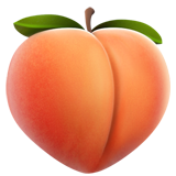 Peach ios/apple emoji