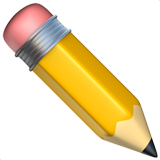 Pencil ios/apple emoji